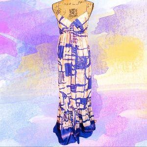 Anthropologie Isabella Sinclair silk maxi dress